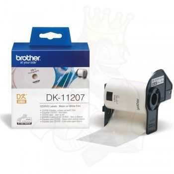 Brother DK-11207 Etichete laminate pentru CD/DVD 58 mm x 58 mm,