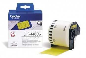 Brother DK-44605 Banda continua de hartie 62 mm x 30, 48 m,  negru/galben