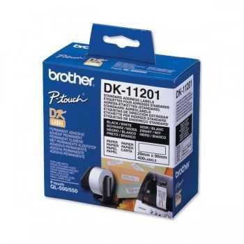 Brother DK11201 Etichete de hartie standard pentru adrese 29 mm x 90 mm,