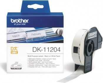 Brother DK11204 Etichete de hartie multifunctionale 17mm x 54 mm