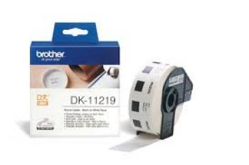 Brother DK11219 Etichete mici rotunde de hartie 12 mm x 12 mm,