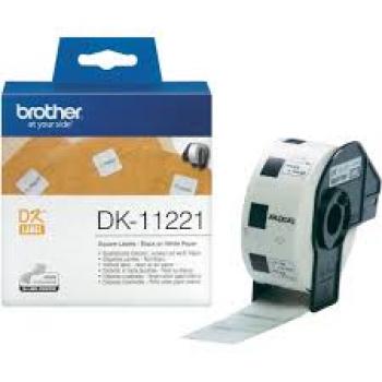 Brother DK11221 Etichete de hartie pentru arhivare 23 mm x 23 mm,