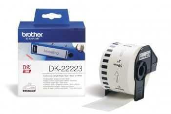 Brother DK22223 Banda continua de hartie 50 mm x 30, 48 m,  negru/alb