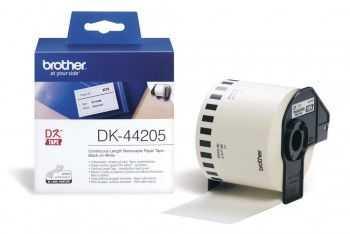 Brother DK44205 Banda continua de hartie 62 mm x 30, 48 m,  negru/alb