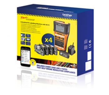 Imprimanta etichete Brother PTE550W + TZEFX231 + TZE241+ TZE251 + TZE651