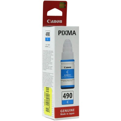 Cartus Cerneala Canon GI-490C Cyan 75ml