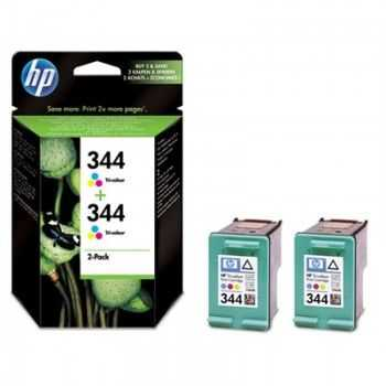 Cartus HP nr 344 pachet de doua bucati trei-culori