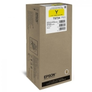 Cartus Original T9734 Yellow XL pt. Epson WF-C869R, 22.000 pagini