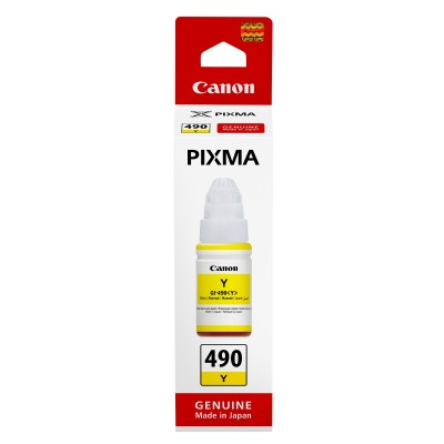 Cerneala Canon GI-490Y Yellow 75ml
