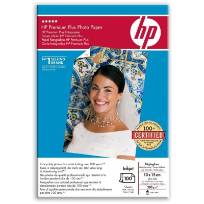Hartie Foto HP Glossy 280 g/m² 10 x 15cm 100 coli
