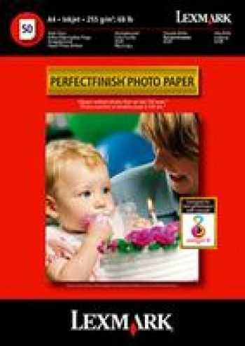 Hartie foto inkjet Lexmark photo perfect phinish, A4, 50 coli, 240gr./m2.