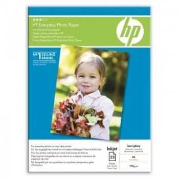Hartie foto HP Photo Glossy, A4, 25 coli, 170gr./m2.