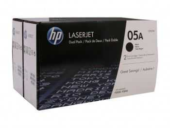 HP 05A Black 2-pack LaserJet Toner Cartridge (2x2300 pag)