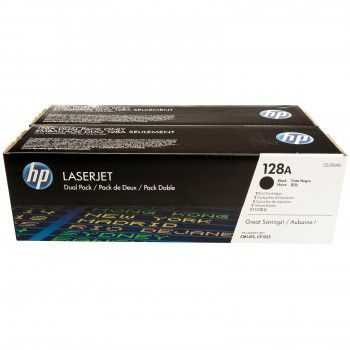 HP 128A Black Dual Pack LJ Toner Cartridge (2 x 2000 pag)