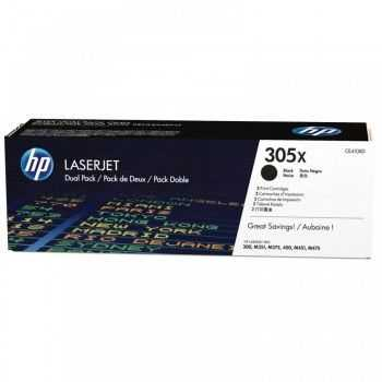 HP 305X Dual Pack Black LaserJet Toner Cartridge