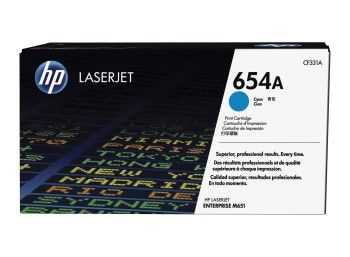 HP 654A Cyan Original LaserJet Toner Cartridge (15k)