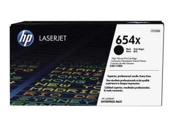 HP 654X High Yield Black Original LaserJet Toner Cartridge (20.5k)