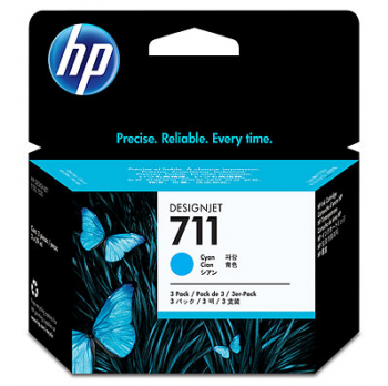 Set Cartuse HP 711 3-pack 29-ml Cyan