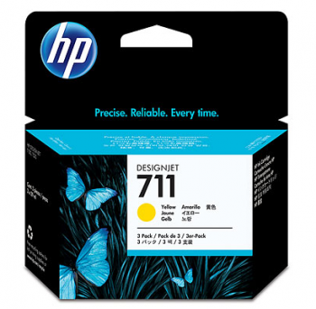 Set Cartuse HP 711 3-pack 29-ml Yellow