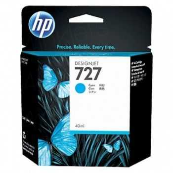 HP 727 40-ml Cyan Designjet Ink Cartridge