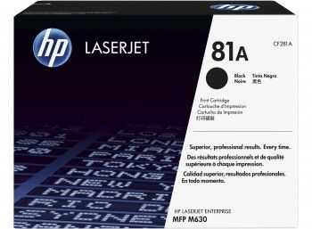 HP 81A Black Original LaserJet Toner Cartridge M630 (10.5k)