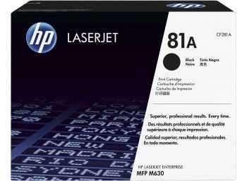 HP 81A Black Original LaserJet Toner Cartridge M630 (10.5k)