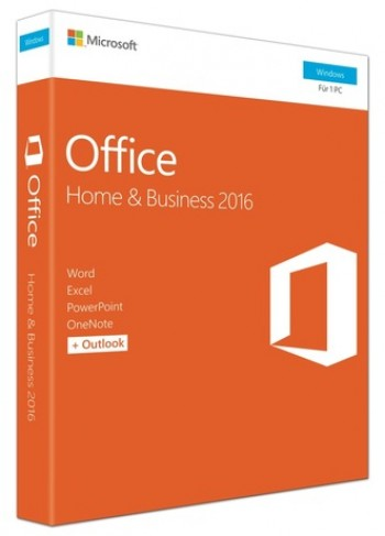 Microsoft Office Home and Business 2016, Engleza, pentru Windows PC, Medialess