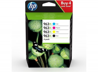 Set Cartuse Cerneala HP 963XL Black,Cyan,Magenta,Yellow 2.000 si 3x1.600 Pagini