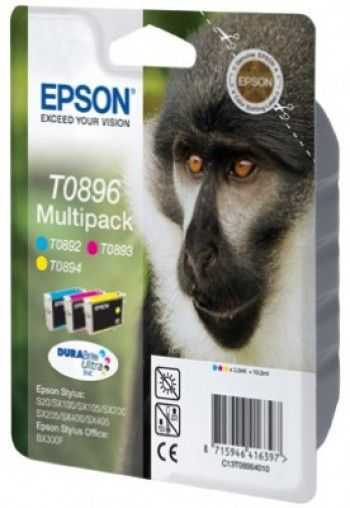 Set cartuse Epson T0896 yellow magenta cyan
