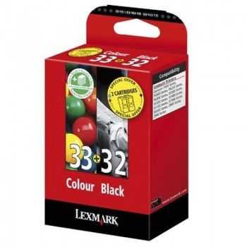 Set cartuse Lexmark nr 32 si nr 33 color si black
