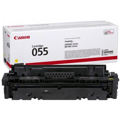 Toner Canon CRG055Y Yellow 2.100 Pagini