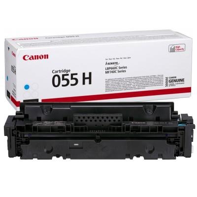 Toner Canon High Yield CRG055HC Cyan 5.900 Pagini