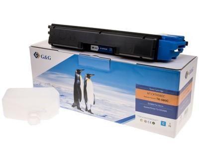 Toner compatibil FS-C5150DN TK-580C cyan 2800 pagini