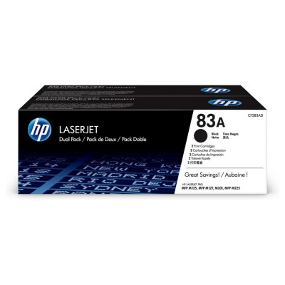 Toner HP 83A Dual Pack Black (CF283AD)