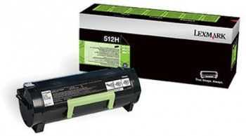 Toner Lexmark 512H Black (51F2H00) Return Program 5000 Pagini