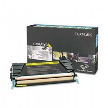 Lexmark Cartridge (C734A1YG) Return Yellow 6k