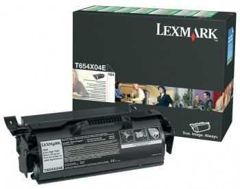 Toner Lexmark T654 return program foarte mare capacitate black pentru etichete