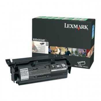 Toner Lexmark X654 X656 X658 return program foarte mare capacitate black pentru etichete