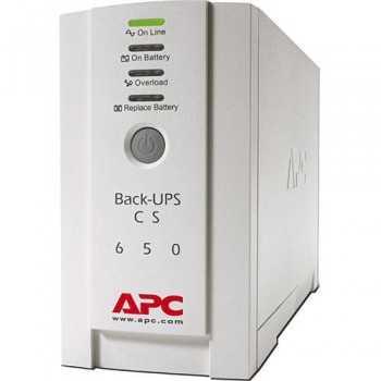 UPS APCBack-UPS CS, 650VA/400W, BK650EI