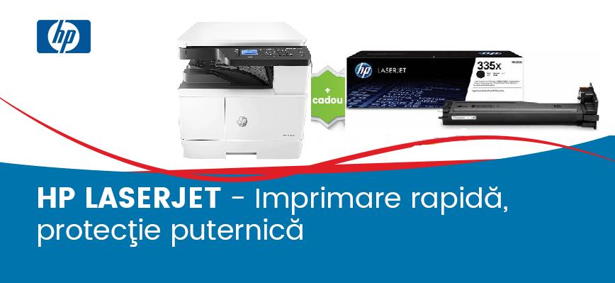 HP LaserJet - Imprimare rapidă, protecţie puternică